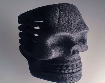 Black Plastic Skull Microphone Ring