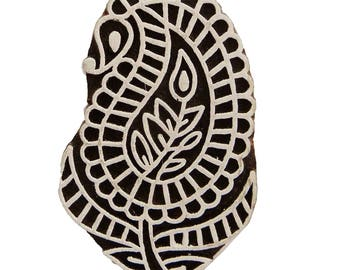 Textile Fabric Printing Apparel Art, By 1 Pcs Paisley Stamp, Decorative Indian Printing Block, Handmade Carved Stamp, PB379