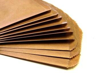 25 Medium Flat KRAFT Merchandise Bags . 6.25 x 9.25