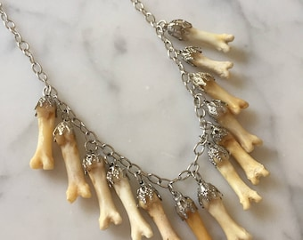Lucky 13 Coyote Toe Charm Necklace