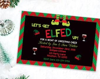 Christmas Party Invitation, Custom Holiday Invitation, Adult Party invites, Christmas invitations, Printable Party Invitations