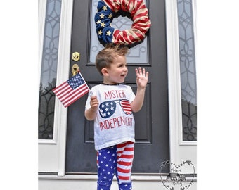 Baby Boys Mister Independent Onesie, Toddler Fourth Of July Shirt, 4th Of July Outfit, Boys Fourth Of July Outfit, Fourth Of July Tshirt