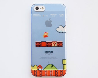 90s 8Bit Super Mario Clear 3D Printed iPhone5/5s, iPhone6/6s, iPhone6/6s Plus, iPhone7, iPhone7 Plus Case
