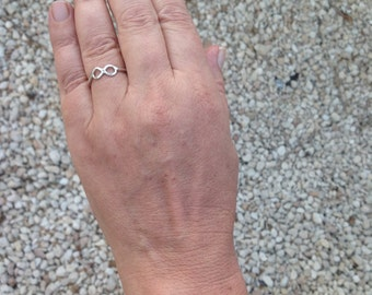 Silver Infinity Ring ,Sterling Silver Jewelry ,Woman Ring, Pinkie Ring, Skinny Ring ,Infinity Ring