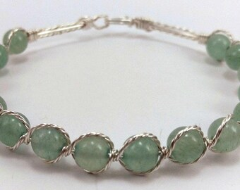 Green Aventurine beaded bracelet