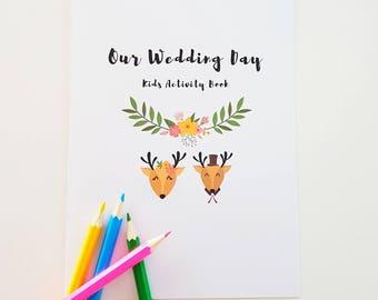 Printable Kids Activity Pack | Kids Activities Book Wedding | Children's Activity Book | Customized