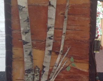 Birch Bark Journal with Birch Forest