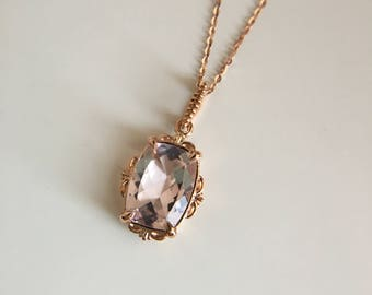 morganite shape pear jewelers wexford gold rose necklace divi divine sleek