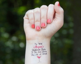 Bachelorette Party Favor - Bachelorette Tattoos - Bachelorette Party Temporary Tattoos - If I'm Lost, Buy Me A Drink