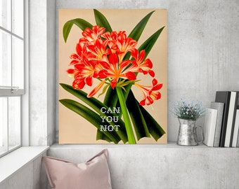 Subversive Botanicals: Can You Not Poster