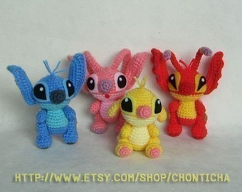 STITCH and the GANG - PDF amigurumi crochet pattern