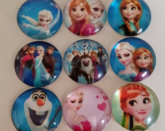 Set of 5 Cabochons of the snow Queen