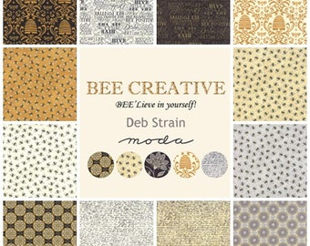 Bee Creative Fat Quarter Set of 12 | Deb Strain Designer | Moda Quilting fabric