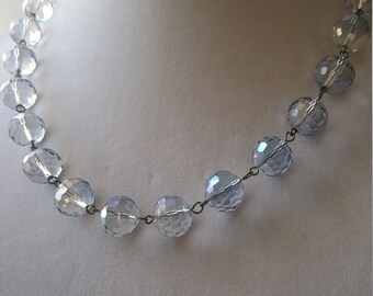 "Faceted glass beaded bubble necklace. ""I Feel Bubbly."""