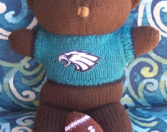 Bear, Philadelphia EaglesTeam Bear, Baby Boy Bear, Baby Shower Gift, Birthday Gift, Keeplooksake Bear, Souvenir Bear, Valentines Day