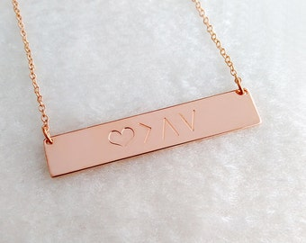 God Is Greater Than The Highs And Lows Specific Bar Necklace Gold Coordinates Bar Necklaces cU12jw