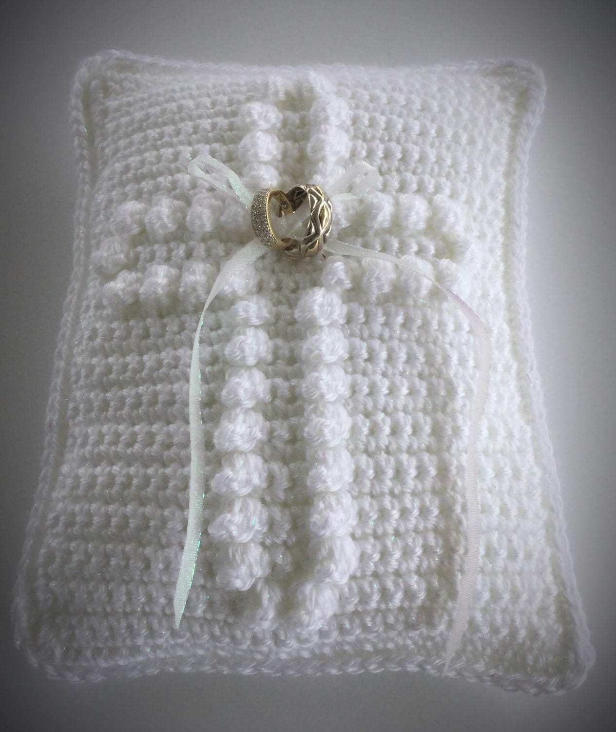Crochet Wedding Ring Pillow Pattern Wedding Ring Bearer
