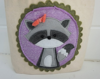 Ramona the Raccoon Tote Bag Handmade Purse Carry-All