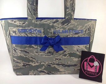 Diaper Bag / Large Tote - All Military Camo Types, Large Tote, Bag, Baby, Army, Air Force, Navy, Marines, Ready to Ship