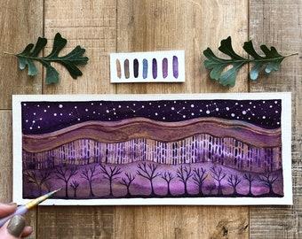 Celestial Watercolor // celestial oak forest