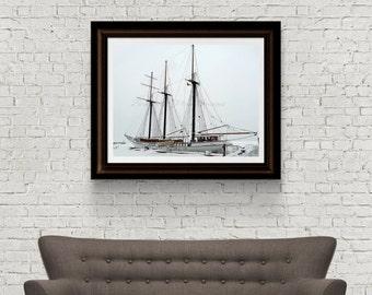 Nautical Photography - Landscape Photography - Ship Photograph - Nautical Decor - Digital download - Original Fine Art - Canada Photograph