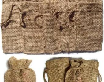 "12 BURLAP BAGS 4"" X 6"" - 10cm X 15cm Gift Bags Favor Bags Wedding Bridal Decor"