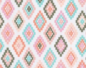Pastel Tribal  Fabric - By The Yard - Girl / Tribal / Modern