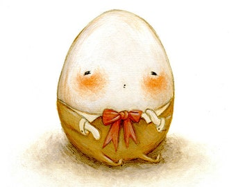 Humpty Dumpty Print -  Nursery Art, Egg, Easter, Fairytale Art, Kids Room Art, Nursery Rhyme, Children's Art,  Kids Decor, Cute, Baby Art