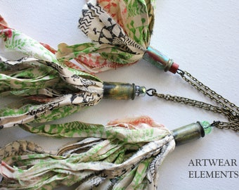 REGGAE Chic! Tassel Necklaces, Art Wear Elements®, Art Jewelry, Tassel Necklaces, Shabby Chic Reggae Jewelry, ArtWear, ArtWear Elements®