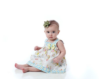 Sewing Pattern - Square Neck Top and Dress for Baby 0 to 24 months PDF download