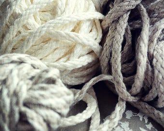 100% linen cord - Decorative Linen cord - linen rope - natural linen decor