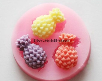 Pineapple Flexible Silicone Mold Silicone Mould Candy Mold Chocolate Mold Soap Mold Polymer Clay Mold Resin Mold F0517