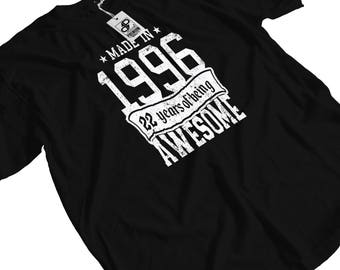 Made in 1996 - 22 years of Being Awesome T-Shirt