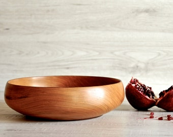 wooden bowl, wood bowl, fruit bowl, salad bowl, serving bowl, large bowl, wood turning, wood kitchen ware, bread bowl, turned wood bowl