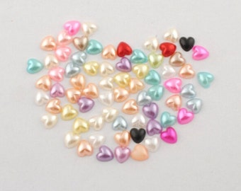 50 Half pearls at heart for decorating and scrapbooking