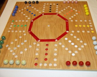 Aggravation Double Sided 8 Player and 6 Player Game