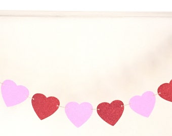 heart banner - Valentine's Day - heart garland -