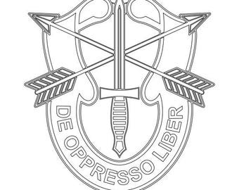 US Army Special Forces Patch Vector Files dxf eps svg ai crv