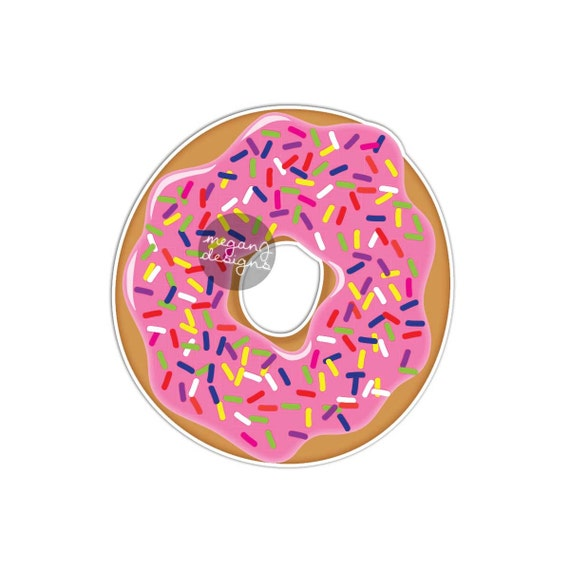 Donut sticker cute car decal laptop decal donut bumper sticker