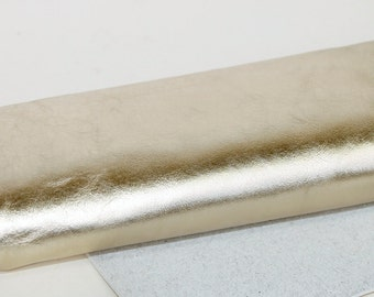 Metallic Pale Gold Genuine Leather