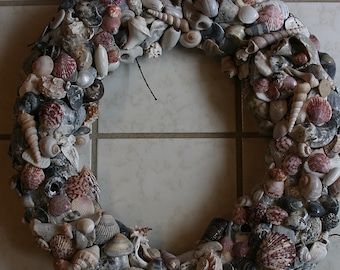 Exquisite Silver Shell Wreath With Pink Striped Accents:  Broken Homes #4