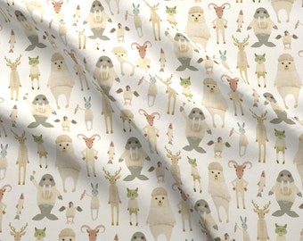 Arctic Animals Fabric - Animals Of The Arctic Circle By Katherine Quinn - Arctic Animals Sweaters Cotton Fabric By The Yard With Spoonflower