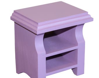 """Lavender Nightstand, AG Doll Furniture, 18 inch Doll Furniture, 18"""" Nightstand, AG nightstand"""