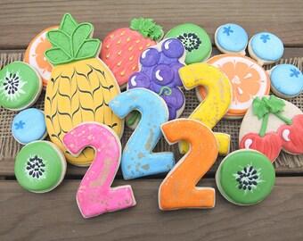 Two-tti Fruitti Birthday / Two-tti Fruitti Cookies / Two-tti Fruitti Favors / Two-tti Fruitti Party / Two-tti Fruitti Decorations