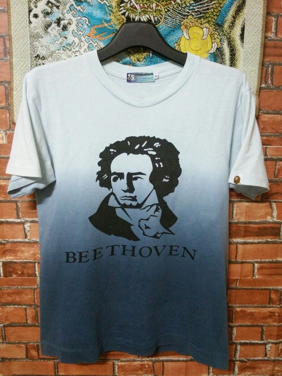 SUPER RARE A Bathing Ape Vintage Beethoven Shirt Made With General T-Shirts Size S Small BCBf9k6Du1