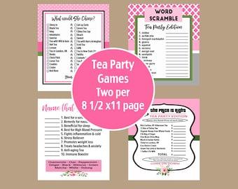 Tea Party Games, Bridal Tea Party Games, Birthday Tea Party, Tea Games, Retirement Tea Games, High Tea Party Games, Bridal Shower Games
