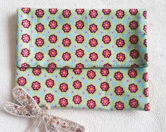 Pouch or wallet * flower * black/red