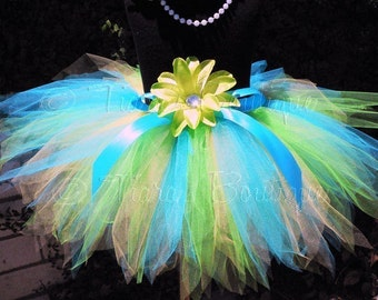Meriel, an ocean pixie - Custom Sewn 11'' Pixie Tutu - sizes Newborn up to 5T - Perfect for Portraits and Birthday Celebrations