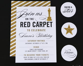 Hollywood invitation Etsy