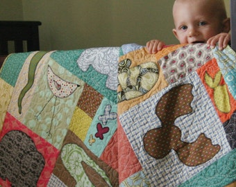 Baby Quilt Pattern Animals on Parade Quilt Pattern Baby Pattern MC003